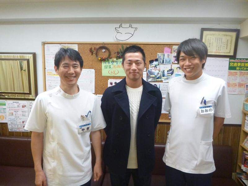 東京ヴェルディの井林選手が来院されました!