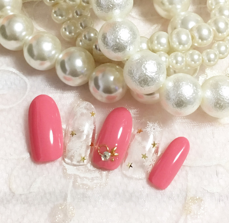 【可愛いピンクのキャンペーンネイル】
